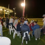 Parents overlook the track next to 'Kids Zone'