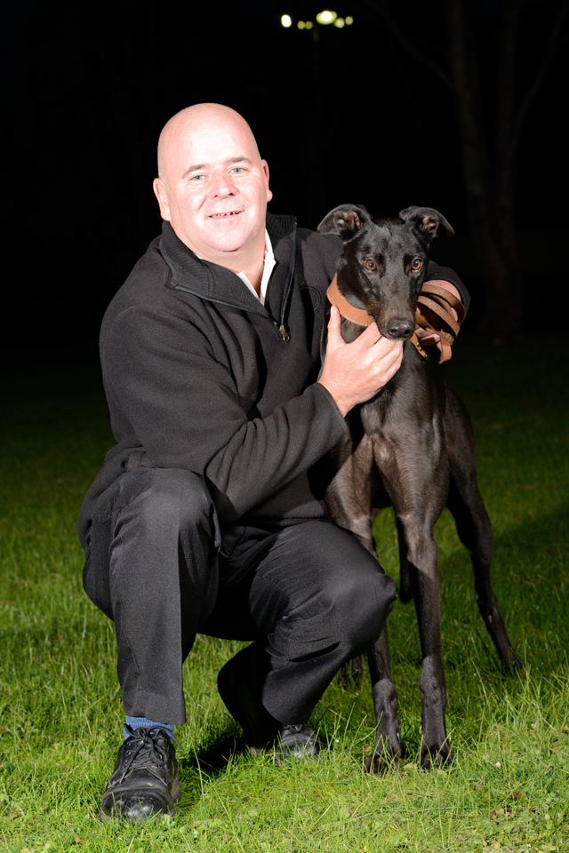 Pantera Nera and trainer Gavin Burke