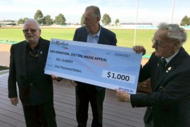 The Meadows Greyhound Racing Club donates to RSL Glenroy