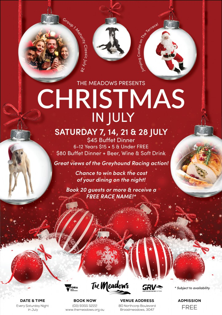 Christmas In July A4 Flyer for Web