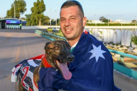 Australian Cup trainer thanking his Luckie stars